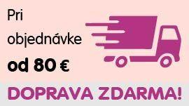 Pri objednávke od 80 € doprava ZDARMA!
